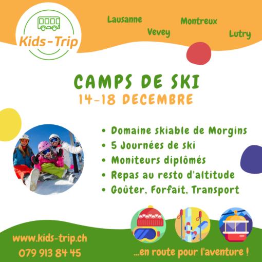 Camp de ski enfants décembre