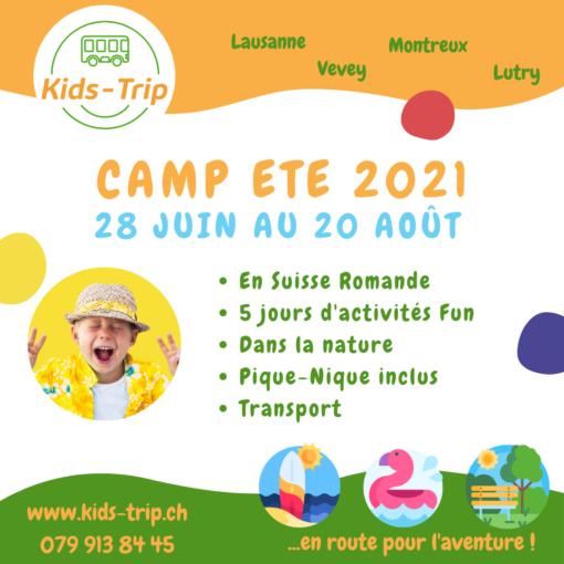 Camp été enfants, summer camp kids
