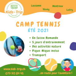 camp tennis enfants vaud suisse
