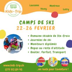 Camp de ski février enfants