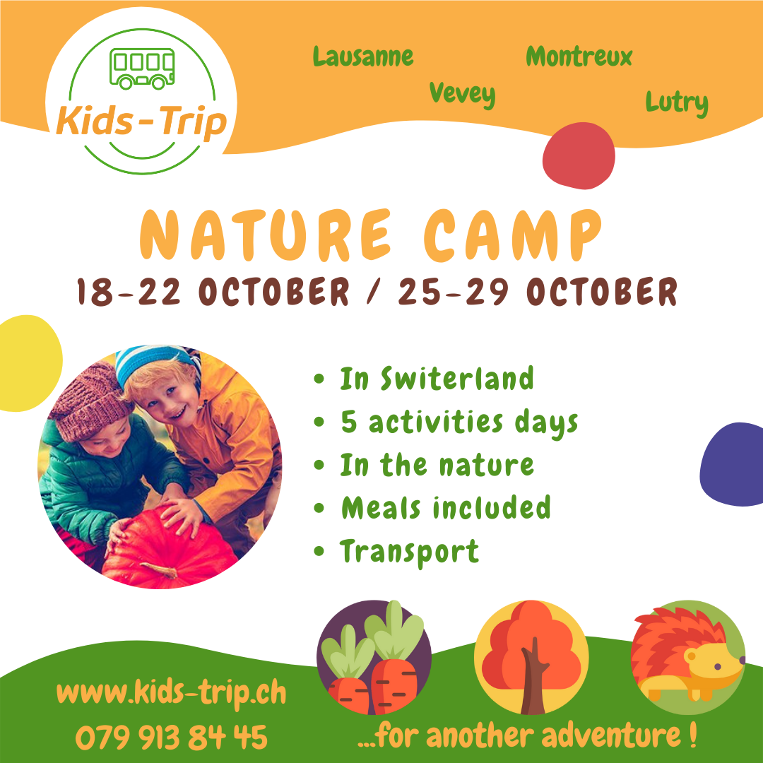 Kids Trip - Activity and holiday camp for children in nature in Switzerland in Lausanne, Montreux and Vevey.